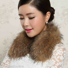 Free shipping /real Wonderful raccoon fur Down jacket collar(50*13)natural brown