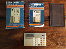 Vintage Prinztronic Micro LC50 Calculator with Box Instructions & Leather Wallet