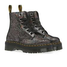NEW Dr.Martens Molly Leather Casual Platform Ankle Boots Gunmetal Gray SZ 8 $180