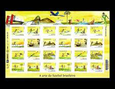 Soccer Brazil Sheet 24 Stamps World Cup 2014 Mi 4144-4155KB, RHM C-3348-3359