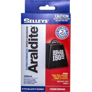 Selleys ARALDITE SUPER STRENGTH Epoxy Adhesive 200ml Holds upto 150kg