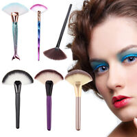 Fan Shape Fashion Makeup Cosmetic Brush Blending Highlighter Contour Face Powder