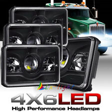 "DOT Approved 4X 4x6"" Led Headlights for Kenworth Freightliner FLD120 112 Classic"