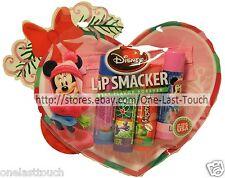 LIP SMACKER 5pc Balm Set DISNEY MINNIE MOUSE Heart Bag MISTLETOE KISSES Holiday