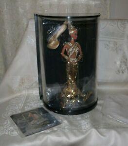 NIB 1990 Bob Mackie Gold Barbie Doll Display Case #5405