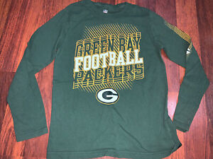 NFL Team Apparel Youth Boys Green Bay Packers Football Shirt Medium M(10-12)