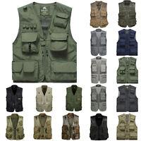 Men Fishing Vest Multi Pockets Photography QuickDry Casual Waistcoat Jacket Coat