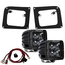 Rigid Fog Light Kit Midnight D-Series PRO LED for 14 15 GMC Sierra 1500 46511
