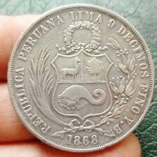 Pérou - 1 Sol - 1868 YB  Lima