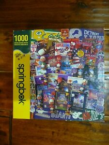 Springbok 1000 Piece Football Fantasy Jigsaw Puzzle Used 100% Complete