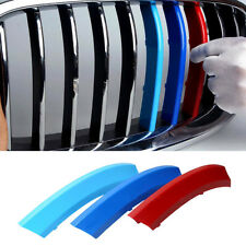 3pcs Tri-Colors Front Grille Molding Trim for BMW 5 series 11-13 High Quality
