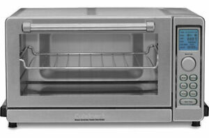(Stainless Steel) Cuisinart TOB-135 Deluxe Convection Toaster Oven Broiler