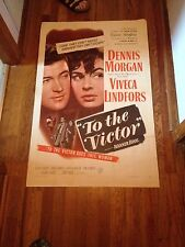"""To the Victor"" Warner Bros. Starring Victor Francen, Bruce Bennett (1948) WOW"