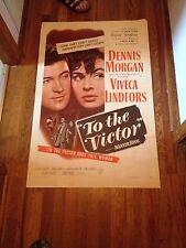 """To the Victor"" Warner Bros. Starring Victor Francen, Bruce Bennett (1948) WOW"