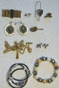 Modeschmuck zum Minipreis ! Ohrringe, Anstecknadeln/Pins,Broschen u.mehr ! Set 2