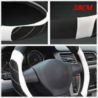 DIY Car 38cm Diameter Microfiber Leather Ice Silk Steering Wheel Cover Anti-Slip