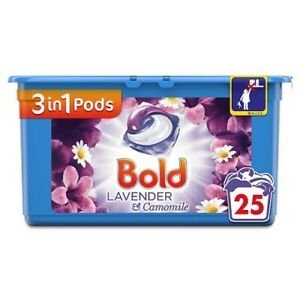 Bold 3 In 1 Pods Lavendar & Camomile Laundry Detergent Tabs 25
