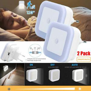 2 X LED Nachtlicht Mit Bewegungsmelder Steckdose LEDs Nachtlicht Nachtlampe Set