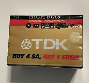 5 Pack TDK SA-90 SEALED CASSETTE 90 MINUTE