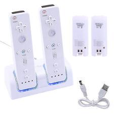 2 x Docking Ladegerät Ladestation + 2 x Batterie Akku 2800mAh für Nintendo Wii