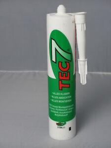 TEC7 Kartusche Montageklebstoff, Klebe- und Dichtmittel  310 ml Kleber Weiß