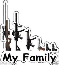 MY FAMILY GUNS BUMPER STICKER TOOLBOX STICKER LAPTOP STICKER HELMET STICKER