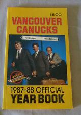 Original NHL Vancouver Canucks 1987-88 Official Hockey Media Guide
