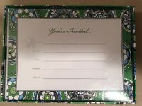 New In Box Cupcakes Green Invitation 12 With Stickers Envelopes Really Cute!