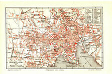 Antique map. NORWAY. CITY MAP OF OSLO. c 1895