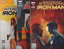 INTERNATIONAL IRON MAN #1 2 3 DIGITAL CODES & COMICS IS DOOM TONY'S DAD? MARVEL!
