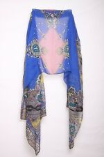 Abstract Hippy Retro Inspired Statement Royal Blue Intricate Detailed Scarf(S5)