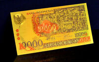 "★★ INDONESIE / INDONESIA : BILLET POLYMER  "" OR "" DU 10000 RUPIAH  1975 ★"