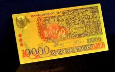"★★ INDONESIE / INDONESIA : BILLET POLYMER  "" OR "" DU 10000 RUPIAH  1975 ★"