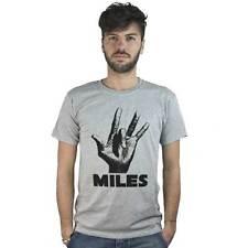 T-Shirt Musica Jazz, maglietta grigia con immagine mano di musicista, Tromba