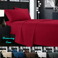 KING SIZE SHEETS 1800 Count 4 Piece Deep Pocket Bed Sheet Set Hotel Luxury G8