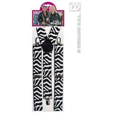 Zebra Print Braces Gangster Pimp Fancy Dress Accessory