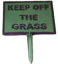 KEEP OFF THE GRASS GARDEN LAWN SIGN 14cm Robust Metal Push in Spike Notice NEW