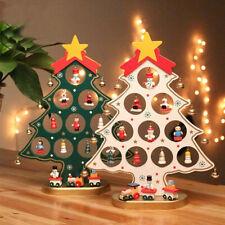 More details for mini pendant ornament wooden christmas trees festival table statue desktop decor