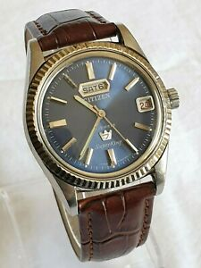 Vintage CITIZEN Super King 7 Steel 21 Jewel Manual Watch Rare 1960's