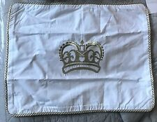Pottery Barn Kids crown PRINCESS decorative pillow cover 12x16 gold trim
