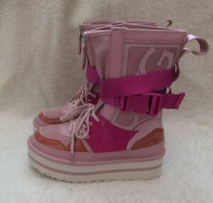 UGG Pop Punk High Top Boots Women's Trainers Size 5uk Pink Platform Rare New