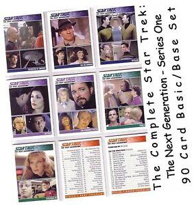 Complete Star Trek TNG The Next Generation Series 1 - 90 Card Basic/Base Set