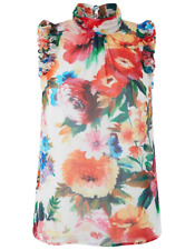 New Monsoon Emilia Floral Print Ruffle Sleeveless Top RRP £49 Sizes 8 & 10