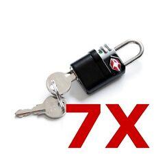 7 Pack Travel Luggage Security Safe Indicator Key Lock TSA Approved