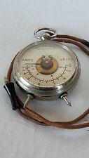 Alter kombinierter Taschen-Voltmeter -Amperemeter im Taschenuhrformat plus Etui