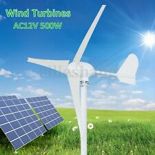 500W 3 Blade Waterproof Wind Turbine Generator Powered Kit 12V For Farm