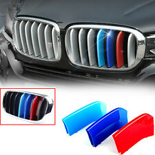 Tri Color M Sport Front Kidney Grill Grille Insert Trims Fit BMW F15 F16 X5 X6