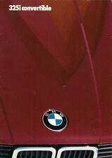 BMW 325i Convertible E30 1986-87 UK Market Sales Brochure 3-Series