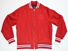 HUF SF VARSITY JACKET DIRTBAG CREW 1984 WOOL LETTERMAN COAT RED & WHITE XXL XL