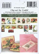 Sweet Roses - 45 Printable Label Images (Paper or Fabric) - Crafting CD